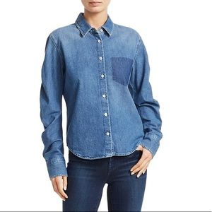 Jonathan Simkhai Denim Gather-Sleeve Shirt 12